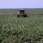 applying herbicides
